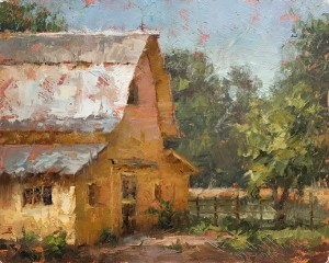 Todd Williams, Gilberts Barn, oil, 8 x 10.