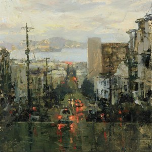 Hsin-Yao Tseng, Toward the Bay, oil, 14 x 14.