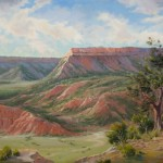 Cecy Turner, A Test of Time, Palo Duro Canyon, TX, oil, 20 x 30.