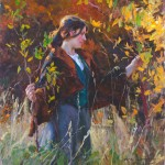Mike Malm, Turning Gold, oil, 24 x 24.