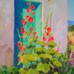 J. Chris Morel | Turquoise Door, oil, 20 x 16.