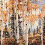 Clive Tyler, Last Fall, pastel landscape painting