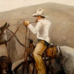 Tyler Murphy, Montana Cowboy, oil, 24 x 48.
