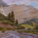 J. Chris Morel | Upper Paria in the Escalante, oil, 24 x 30.