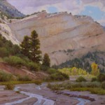 J. Chris Morel | Upper Paria in the Escalante, oil, 24 x 30.