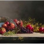 Pomegranates With Grapes by Demetrios Vlachos