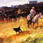 Virginia Vaughan, Getaway, oil, 16 x 20.