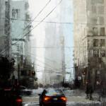 David Cheifetz, Veiled District, oil painting