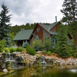 The Dunns' home is nestled in a lush Rocky Mountain valley.