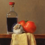 Erin Schulz, Vinegar & Friends, oil still-life painting