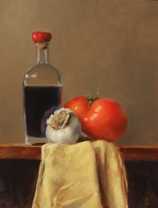Erin Schulz, Vinegar & Friends, oil, 14 x 11.