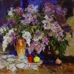 Vladimir Kovalyov, Lilac, oil, 32 x 34.