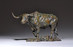 Mick Doellinger, Headin North, bronze, 11 x 20 x 11.