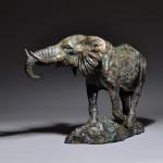 Mick Doellinger Think Tank, bronze animal sculpture