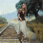 McGarren Flack, Walk the Line, oil, 30 x 24.