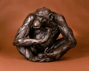 Bart Walter, The Observer, bronze, 26 x 32 x 24.