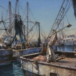 Curt Walters, After the Catch, Puerto Penasco, oil, 20 x 30.