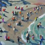 Peggi Kroll-Roberts, Waterline, oil, 9 x 12