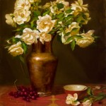White Roses, Copper with Cup, oil, 24 x 20.