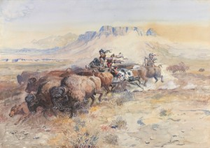 Charles M. Russell, Wild Man's Meat, 1899, Courtesy Sid Richardson Museum.