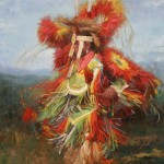 William J. Kalwick, Jr, Pow Wow Dancers, oil, 36 x 24.