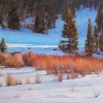 J. Chris Morel | Winter Afternoon, oil, 16 x 20.