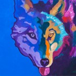 John Nieto, Wolf (Close Up), acrylic, 24 x 32.