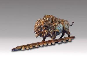 Greg Woodard, Into the Sunset, bronze, 9 x 12 x 5.