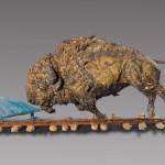 Greg Woodard, Taking on Jupiter, bronze, 20 x 44 x 13.