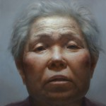Yunsung Jang, Portrait of Mother #1, oil, 96 x 84.