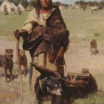 Z.S. Liang, The Traveler, oil, 42 x 28.