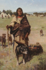 Z.S. Liang, The Traveler, oil, 42 x 28.