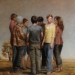 Zoey Frank, Departure, oil, 54 x 48.