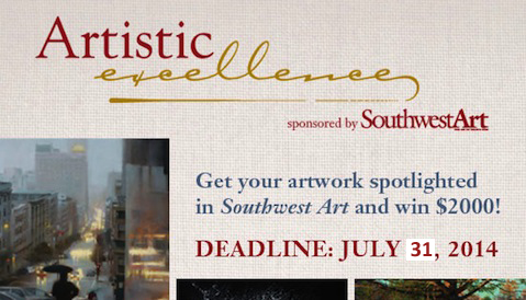 Artistic Excellence - Enter Today!