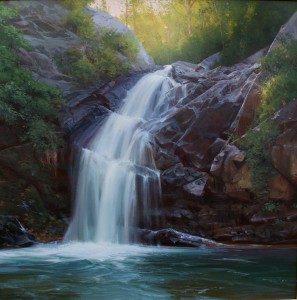 Michael Albrechtsen, Natures Calm, oil, 36 x 36.