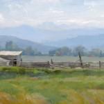 Dave Santillanes, Arapahoe Bend, oil, 8 x 10.