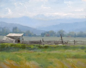 Dave Santillanes, Arapahoe Bend, oil, 8 x 10.