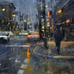 Jim Beckner, Thursday Night, oil, 24 x 36.