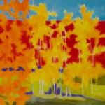 Marshall Noice, Birches Turning, oil, 30 x 30.