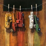 Car Wash, oil, 36 x 30.