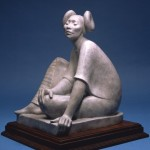 Shirley Thomson-Smith, Hopi Maiden, bronze, h20.