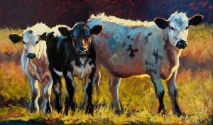 Threes Company, oil, 36 x 60.