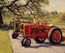 Douglas Morgan, Classic Row, oil painting