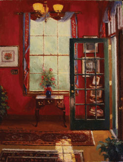 Douglas Morgan, Colorful Parlor, oil painting