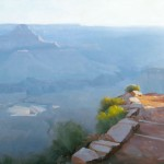 Dave Santillanes, Descending, oil, 18 x 24.