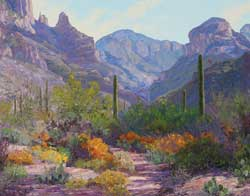 Carol Swinney, Desert Beauty, oil plein-air painting