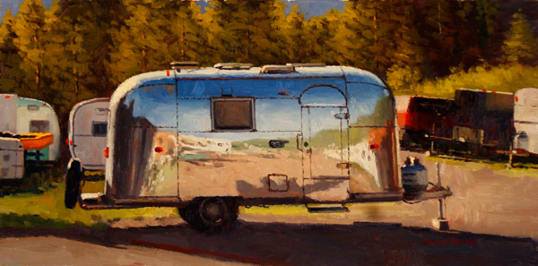 Douglas Morgan, Shiny Classic, oil, 12 x 24.