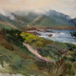 Michelle Dunaway, Mists of Carmel, Study From Life, oil, 10 x 12.