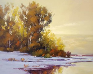 Gregory Stocks | Early Snow, oil, 48 x 60.