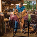 Bill Allison, Saddle Maker, Roundup, Montana by Loren Entz